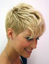 short haircut with one long side women medium haircut