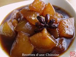 courge cuisiner recettes d une chinoise courge cireuse mijotée à la sauce de soja