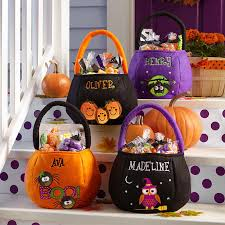 personalized trick or treat bags safe smart reflective treat bags