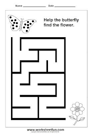 preschool and kindergarten mazes printable worksheets