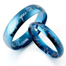 blue titanium wedding band 21 alternative wedding rings titanium ring alternative wedding
