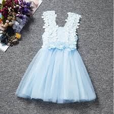 princess pink flower dress baby girls lace tulle dress with