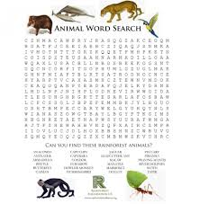 rainforest games and worksheet activities foundation us english