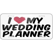 wedding planner license neonblond i heart my wedding planner metal license plate