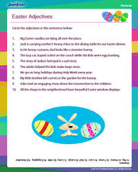 easter adjectives free 2nd grade grammar worksheet jumpstart