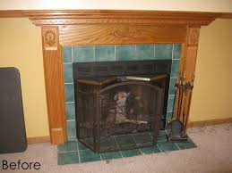 diy fireplace surround transformation burger
