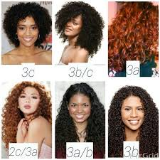 Hair Types by Curly Hair Types Chart The Andre Walker System Hair Typing Chart