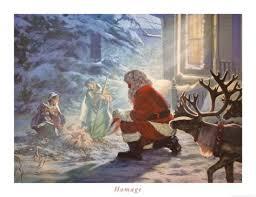 santa kneeling at the manger 9 best santa with jesus images on christmas ideas