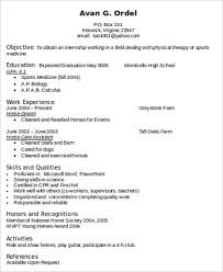 Resume Qualities Sample Physical Therapist Resume 8 Examples In Word Pdf
