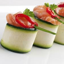 easy cheap canapes smoked salmon canapé with wasabi recipe and easy at