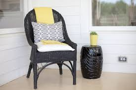 Can You Paint Wicker Chairs Painted Wicker Furniture Porch Farmhouse With None