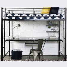 black metal twin loft bed with desk metal twin size sleep study loft bed
