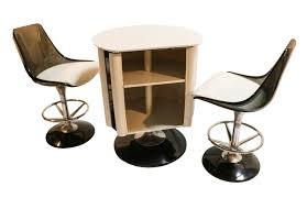 Chromcraft Dining Room Furniture Mid Century Modern Chromcraft Bar Set Table Chairs Stools