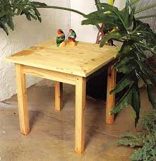 outdoor pine end table outdoor wood plans immediate download