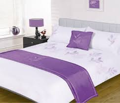 Lilac Bedding Sets Leaves White Lilac Purple 5 Embellished Bed In A Bag