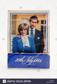 commemorative book of matches celebrating the royal wedding of