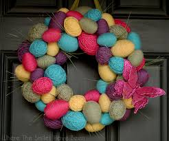 how to make an easter egg wreath easter egg wreath 40 creative diy easter wreath ideas to beautify