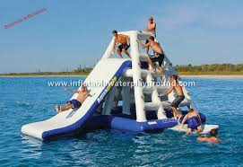 Backyard Water Slide Inflatable by Giant Inflatable Floating Water Slide Outdoor Water Sports With