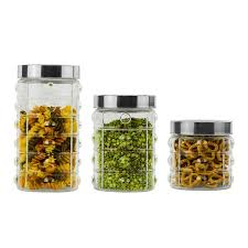 imperial home glass 3 piece kitchen canister set u0026 reviews wayfair