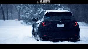 Subaru Sti Te 37 Te37 Bagged Air Suspension Snow Airsociety
