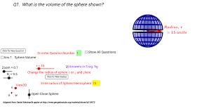 3d sphere hemisphere volume and total surface areas geogebra