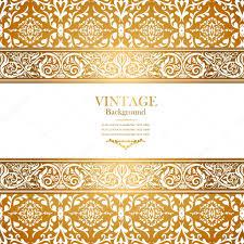 vintage royal background antique gold ornament stock