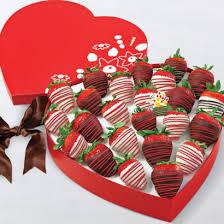 White Chocolate Dipped Strawberries Box Anniversary Gifts
