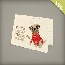 Business Holiday Card Pug Corporate Holiday Cards Christmas Cards English Catalog