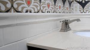 Border Bathroom Tiles Bathroom Makeover Tile Accent Border Day 18 Jenna Burger