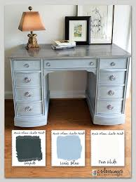 painting a desk white colorways with leslie stocker kneehole desk annie sloan chalk