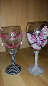 halloween wine glasses personalised rhinestone wine glasses can be any colour name