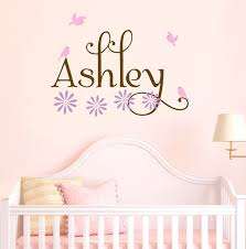 Name Wall Decals For Nursery by Wall Decals For Nursery Names Color The Walls Of Your House