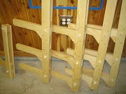 Woodworking Storage Shelf Plans by Lumber Storage Rack By Twobyfour16 Lumberjocks Com