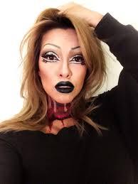 halloween pearl liaison drag x headless makeup penanggal