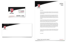 Microsoft Word Template Business Card Auto Detailing Business Card U0026 Letterhead Template Word U0026 Publisher