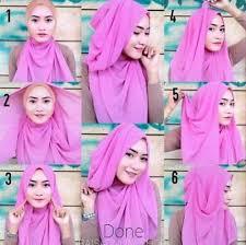 tutorial hijab pashmina kaos yang simple panduan berhijab simpel pashmina tipe kaos terbaru