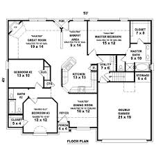 2 Bedroom 2 Bath House Plans With Garage Floor Plans With Garage