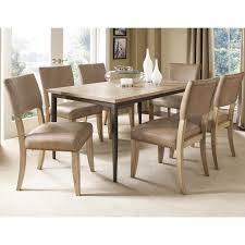 hillsdale charleston 5 piece rectangle desert tan wood dining set