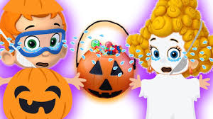 bubble guppies in halloween costumes five little kids playing