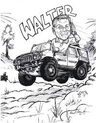 jeep cartoon drawing caricatures