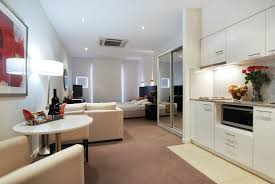 apartment charming studio apartment furniture with glass sliding