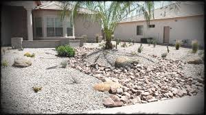 Desert Rock Garden Ideas Landscape River Rock Landscaping With Front Yard Home Garden