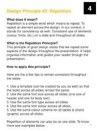 Excellent Sample Resume by Principles Of Good Presentation Design Free E Book