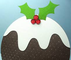 christmas pudding easel card free cut file