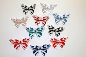 10pcs butterfly wine glass 3d butterfly confetti paper