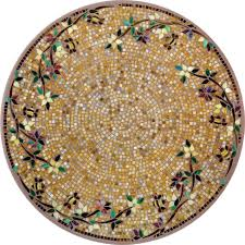 Mosaic Dining Room Table Dining Room Golden Mosaic Bistro Table With Charming Motif Design