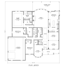 budget house plans simple one story four bedroom house plans floor plan aflfpw12035 1