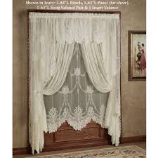 Should Curtains Touch The Floor Or Window Sill Garland Lace Window Treatment