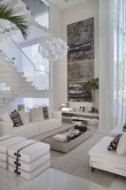 contemporary living room with abstract wall arts choosing the