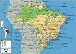 Map Of Brazil South America by Geoatlas Countries Brazil Map City Illustrator Fully
